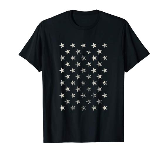 Fifty Stars T-Shirt, 50 Stars, the US Flag Tshirt, America