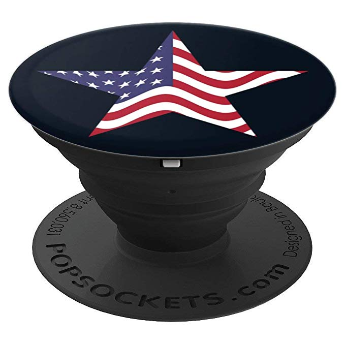 American Flag Star, Patriotic USA Star, US Flag Pop Socket - PopSockets Grip and Stand for Phones and Tablets