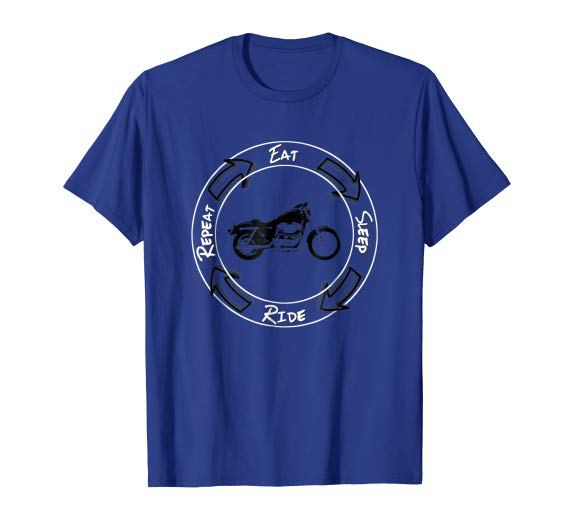 Eat Sleep Ride Repeat Motorcycle T-Shirt Cruiser