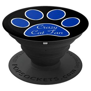 Crazy Cat Fan Paw Print - PopSockets Grip and Stand for Phones and Tablets