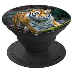 Tiger Walking in the Woods Pop Socket - PopSockets Grip and Stand for Phones and Tablets