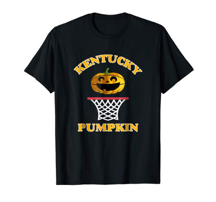 Kentucky Pumpkin T-Shirt, Basketball Hoop, Basketbal Pumpkin, Halloween